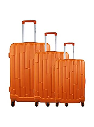 ZIFEL Set 3 Trolley Rigido Deux Sangles