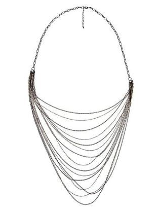 Cortefiel Collar Muticadenas (Negro)