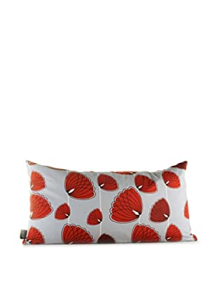 Inhabit Lotus Pillow (Silver/Scarlet)