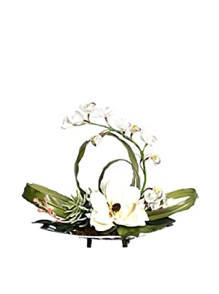 Magnolia Orchid Tray (White/Green/Silver)