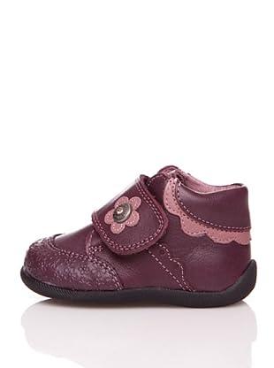 Pablosky Stiefel Blumen und Wellen (Aubergine)