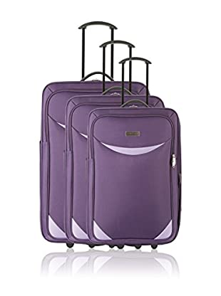 Travel ONE Set de 3 trolleys semirrígidos Ludiana Morado