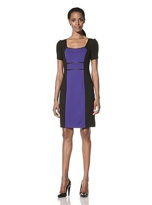 Nue by Shani Women's Sweater Sleeve Colorblock Dress (Plum)