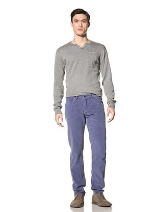 Just a Cheap Shirt Men's Slim Fit Corduroy Pants (Royal)
