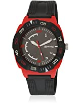 77008Pp02J-Sdd157 Black/Red Analog Watch