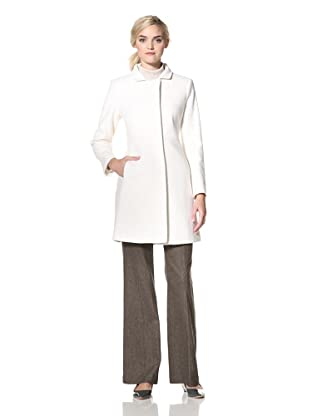 Via Spiga Women's Ella Wool Jacket with Stand Collar (Snow White)