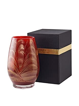 Northern Lights Candles Esque Candle & Floral Vase, Cranberry
