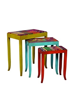 Guildmaster Set of 3 Caravan Nesting Tables