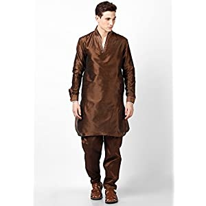 Brown Pathani Kurta Set