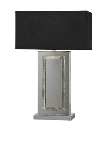Stanton Table Lamp, Mirror/Black