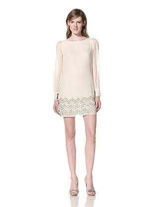 Alexia Admor Women's Split Sleeve Silk Dress (Ivory)
