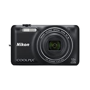 Nikon Coolpix S6600 16 MP Point and Shoot Camera (Black) with 12x Optical Zoom, 4GB Card and Camera Case