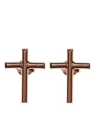 Córdoba Joyeros Pendientes Cruz Oro Rosado