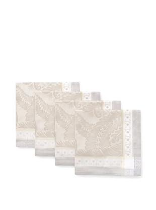 Garnier-Thiebaut Set of 4 Isaphire Napkins (Platine)