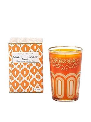 Market Street Candles 10.5-Oz. Orange Trellis Moroccan Candle
