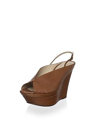 Pura López Women's Slingback Platform Wedge Sandal (Parma Doc Cuoio)