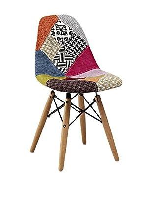 Lo+deModa Set Silla Niño 2 Uds. Baby Wooden Patchwork Edition Multicolor