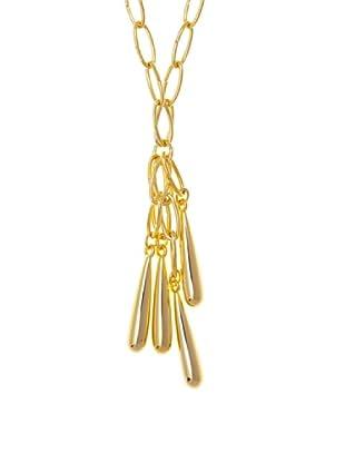 Utoqia Collar Acero Dorado