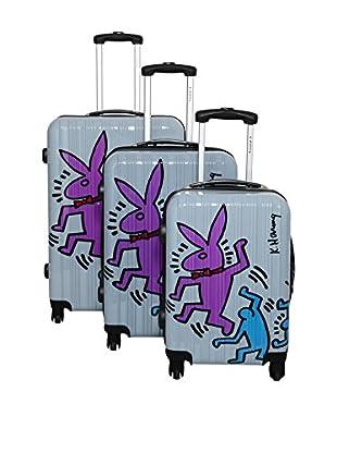 Keith Haring Set de 3 trolleys rígidos 29100/3