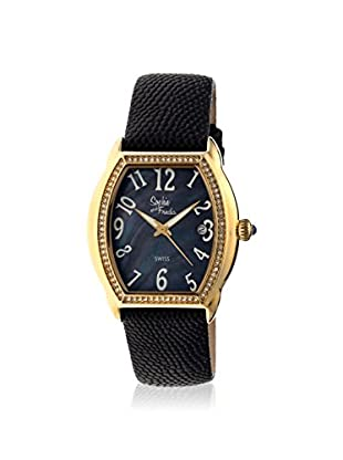 Sophie and Freda Women's SAFSF2204 Aspen Black Leather Watch