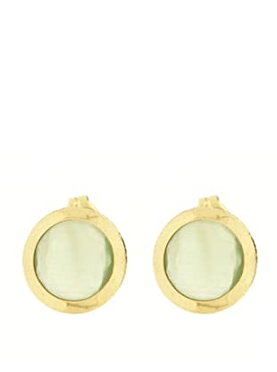 Gold & Diamond Pendientes 4 Estaciones Verde
