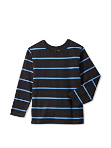 Soft Clothing for Children Boy's Remy Long Sleeve Tee (Navy)
