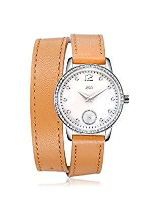 JBW Women's J6324A Savannah Diamond & White Mother-of-Pearl/Brown Leather Watch