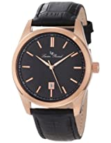Lucien Piccard Watches, Men's Eiger Black Dial Black Genuine Leather, Model 11568-RG-01