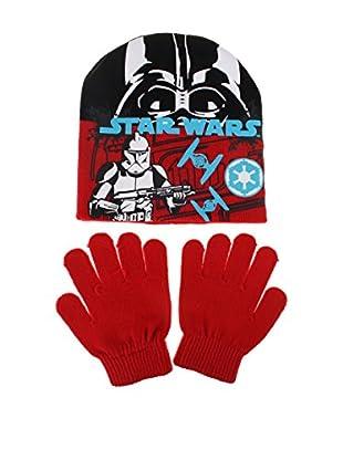 Star Wars Set Mütze und Fäustlinge Storm Trooper