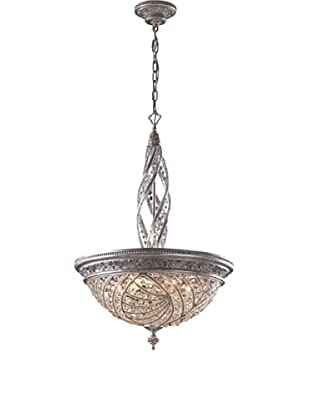 ELK Lighting Renaissance 6-Light Pendant Ceiling Fixture with Crystal Accents, Sunset Silver