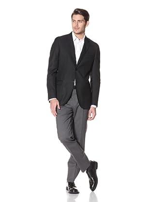 Calvin Klein Collection Men's Hudson Two Button Notch Jacket (Black)