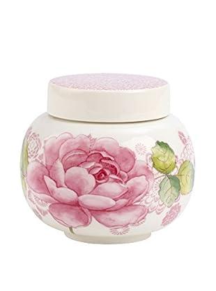 Villeroy & Boch Rose Cottage 12-Oz. Covered Sugar Bowl, Pink/White