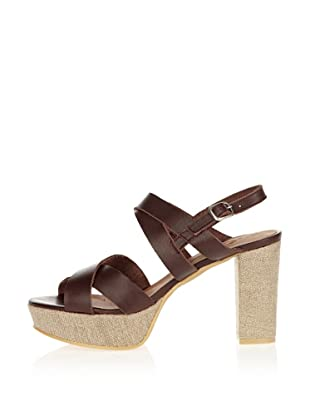 US Polo Assn Plateau Sandalette Dolly (Dunkelbraun)