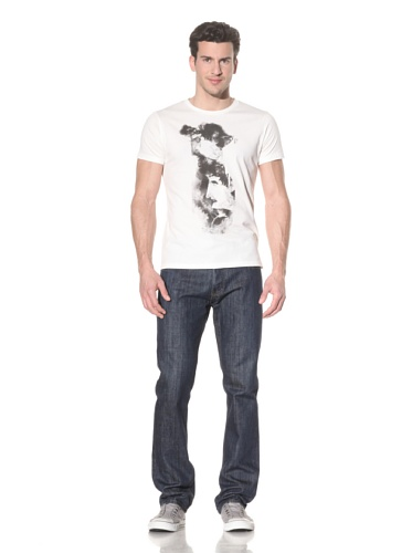 Tee Library Men's Two Face T-Shirt (White)