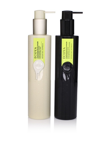Ecoya Lemongrass and Ginger Hand/Body Lotion and Liquid Soap, 2 pack