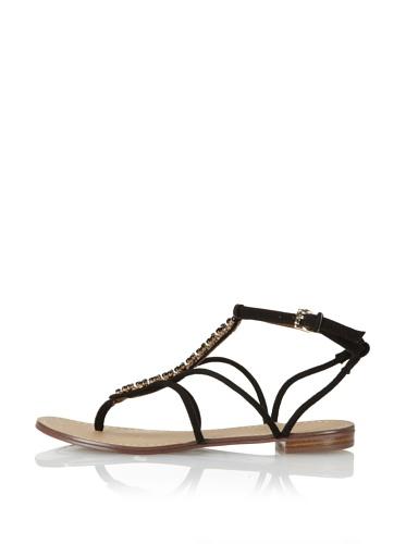 Boutique 9 Women's Phebe Flat Sandal (Black)