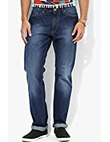 Blue Regular Fit Jeans Allen Solly