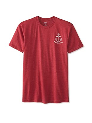 Brookline Men's Anchor Tee (Cardinal Red)
