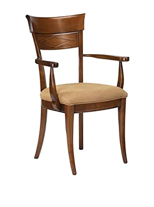 French Heritage Angela Armchair, Antique Cherry