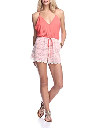 6 Shore Road Women's Malay Lace Romper (Sunset)