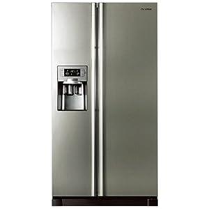 Samsung 585L RS21HUTPN1/XTL Side By Side Door Refrigerator-Platinum Inox