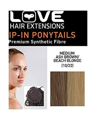 Love Hair Extensions Kunsthaar-Pferdeschwanz Percilla mit Kordelzug 40cm 10 / 22 Medium Ash Brown / Beach Blonde