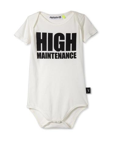 NUNUNU Baby High Maintenance Bodysuit (White)