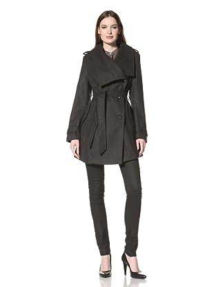 Sam Edelman Women's Double-Breasted Wool Coat (Charcoal)
