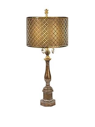 Savannah Table Lamp With Metal Shade, Bronze