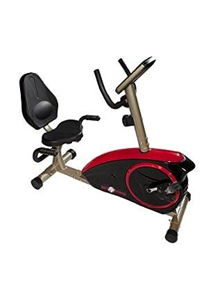 Best Fitness Recumbent Bike, Black/Red/Champagne