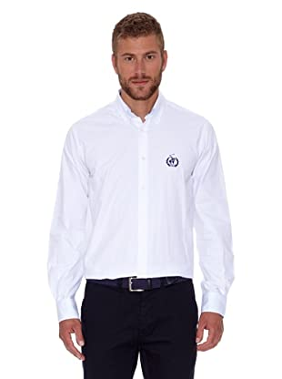 Polo Club Camisa Hombre Fitted Logo (Blanco)