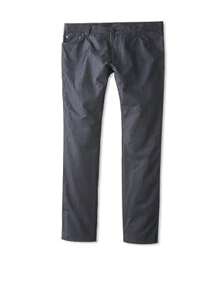 Salvatore Ferragamo Men's Straight Leg Jeans (Blue Washed)