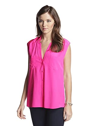 Mason by Michelle Mason Women's Sleeveless Blouse (Pink/Ivory)