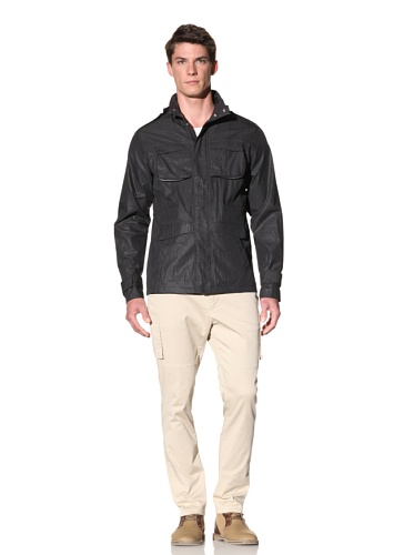 D by D Men's Multi Pocket Jacket (Black)